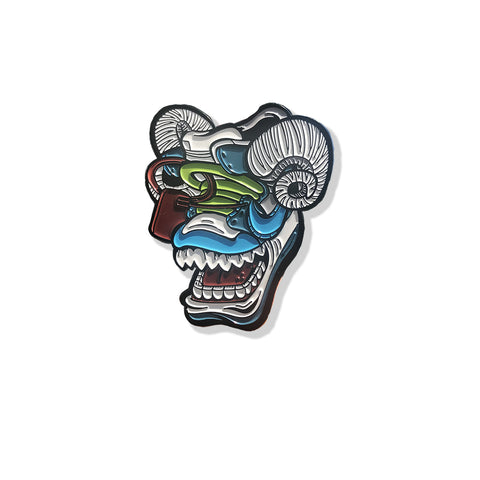 Off Bluu Ram 1.75 x1.75 inch Enamel Pin - Bluu Dreams