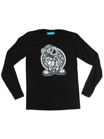 Steamboat Diver Black Long Sleeve T-Shirt