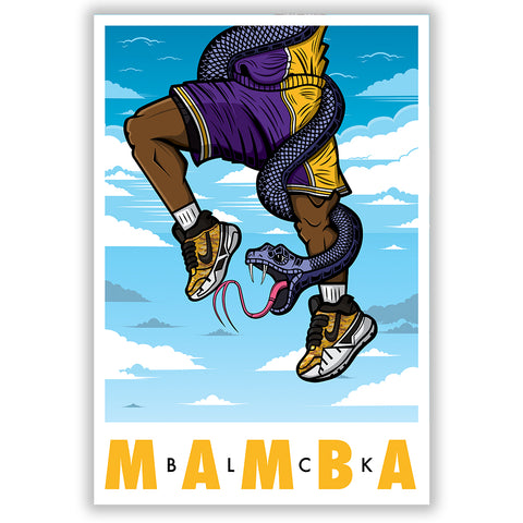 BLCK Mamba Sky High 3 x 4 Sticker - Bluu Dreams