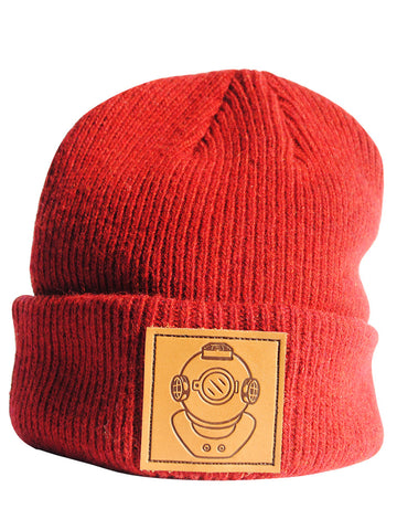 Leather Diver Red Beanie - Anderson Bluu Sneaker Art