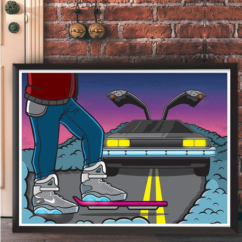 Tomorrow Giclee Art Print 17 x 22 - Anderson Bluu Sneaker Art