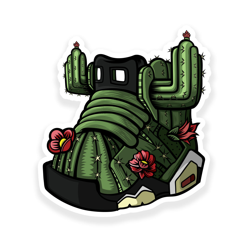 Cactus Jack 3 x 3 Sticker - Bluu Dreams