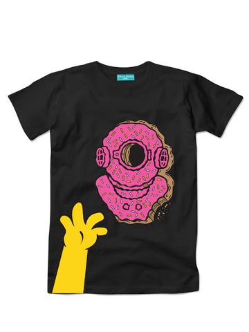 DIVER DONUT BLACK T-SHIRT