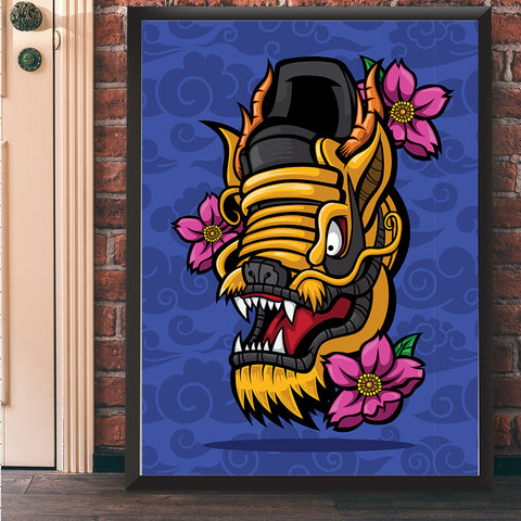 The Dragon Giclee Art Print 17 x 22 - Anderson Bluu Sneaker Art
