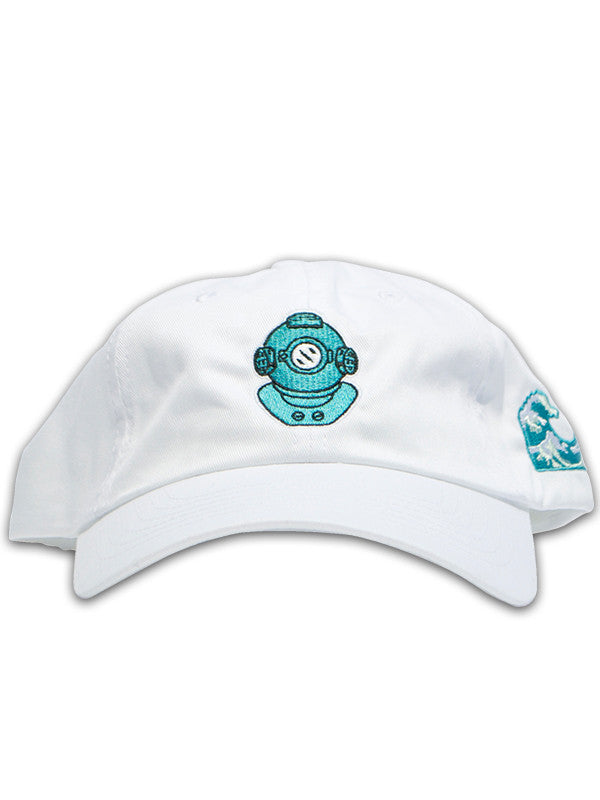White Bluu Dreams dad hat