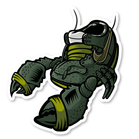 Green Lobster 3 x 3 Sticker