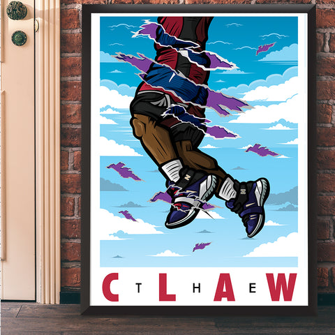 The Claw Giclee Art Print 17 x 22 - Anderson Bluu Sneaker Art