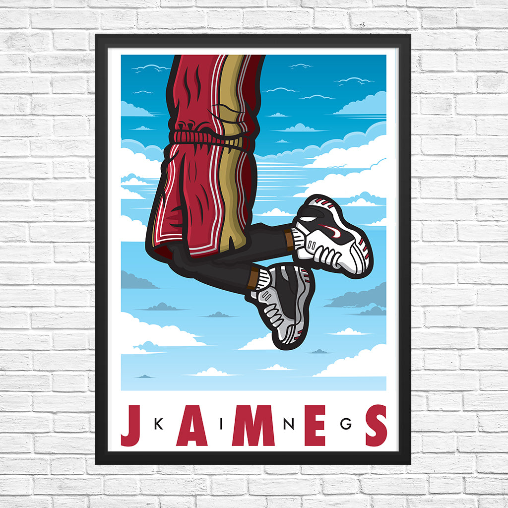 King James Giclee Sneaker Art Print 13 x 19