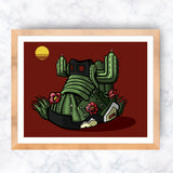 *Limited Edition Sunset Cactus Jack Giclee Art Print 8.5 x 11 - Anderson Bluu Sneaker Art