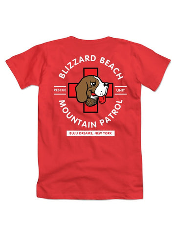BLIZZARD BEACH RESCUE UNIT T-SHIRT RED