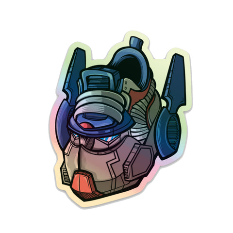 Autobot Commander Hologram 3 x 3 Sticker - Bluu Dreams