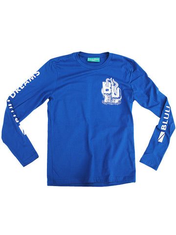 BD Octopus Royal Bluu Long Sleeve T-Shirt - Anderson Bluu Sneaker Art