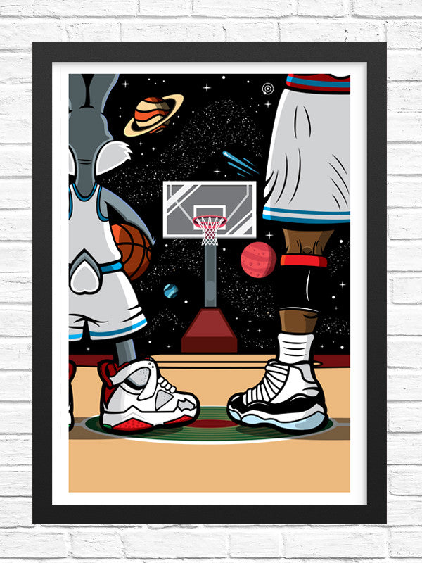 Bugs and Mike Art Print 13x19 - Anderson Bluu Sneaker Art