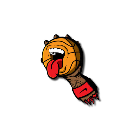 Screaming Basketball 3x3 Sticker
