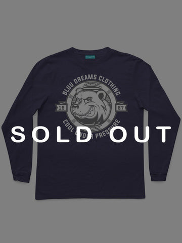 COOL UNDER PRESSURE LONG SLEEVE NAVY BLUE