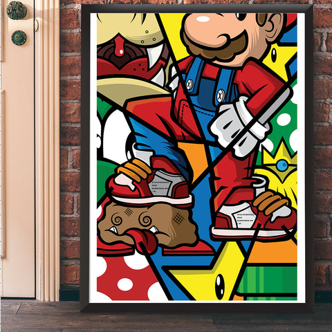 The Plumber Giclee Art Print 18 x 24