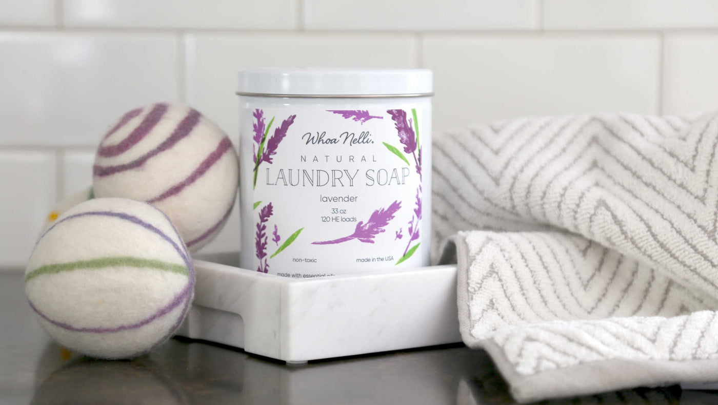 natural laundry detergent made with soap