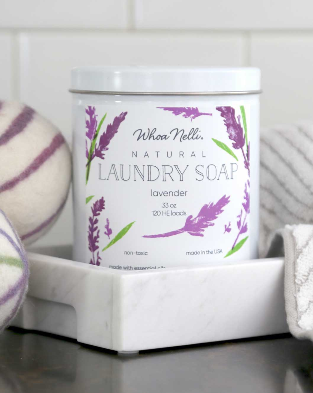 Whoa Nelli natural laundry soap with wool dryer balls