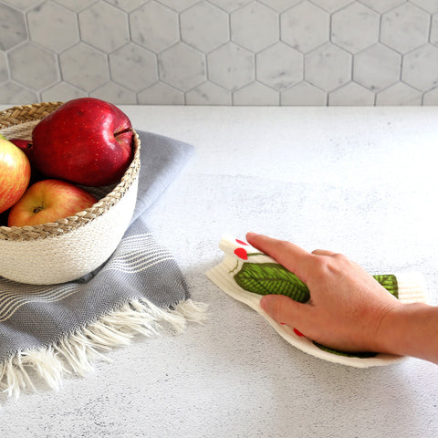 an eco alternative to kitchen sponges is the Swedish dish cloth