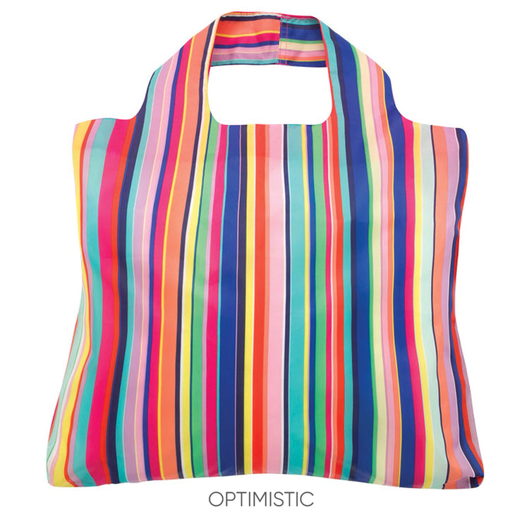 Rainbow striped reusable bags