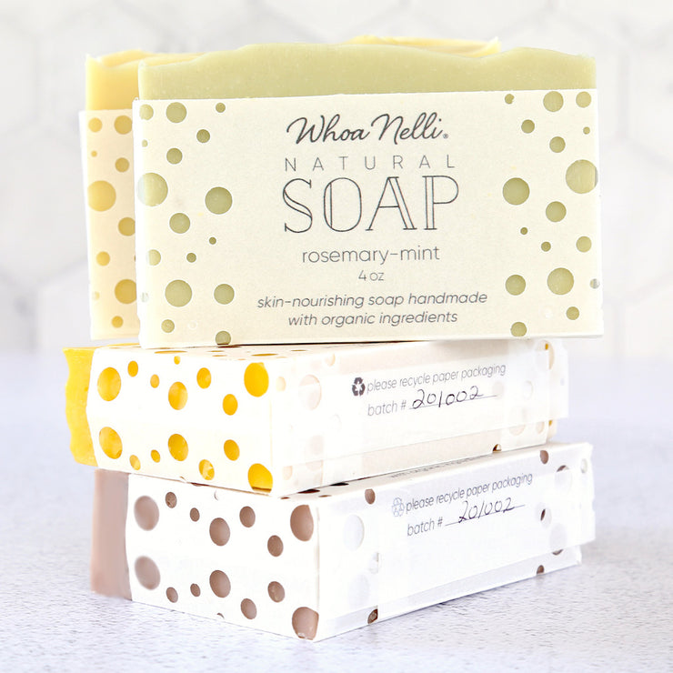 organic soap scented with natural essential oils