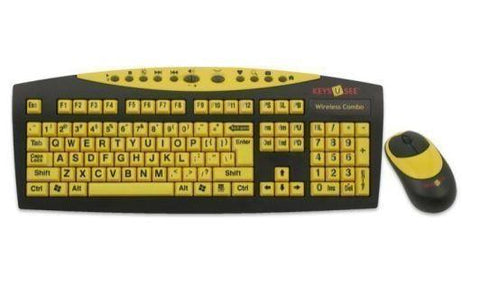 Accessories - AbleNet Keys-U-See Wireless Large Print English USB Keyboard