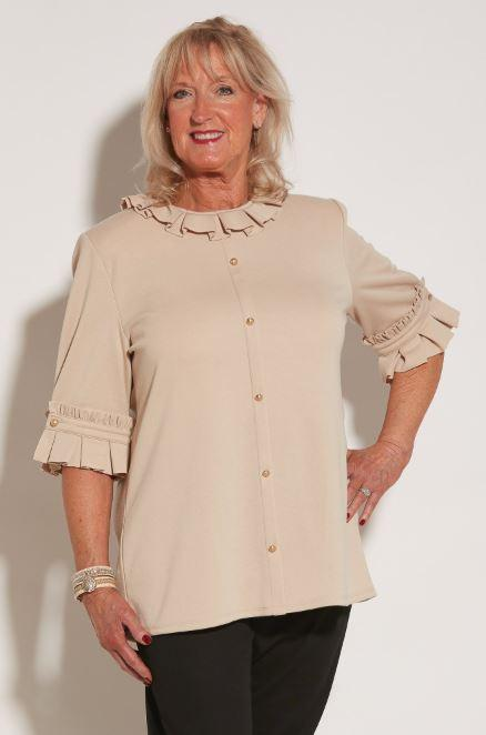 Blouses - Women's KiKi Top - French Vanilla (size: From Medium To XXLarge)