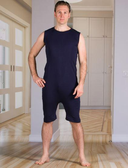 Bodysuits - Men's Bodysuit With A Zipper-Back And Short Legs (from Xsmall - Xlarge)