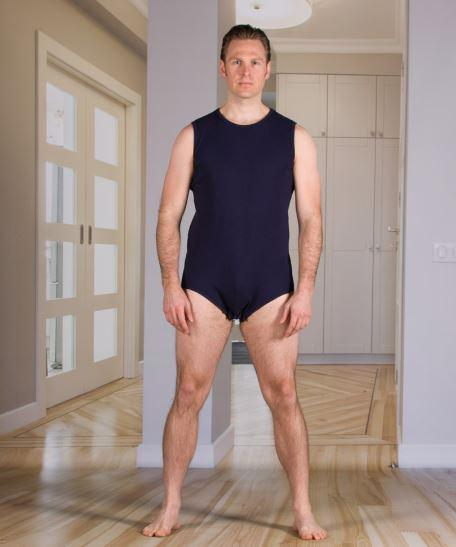 Bodysuits - Men's Bodysuit With Snap-Fastening Crotch (Onesie) (from Xsmall To Xlarge)