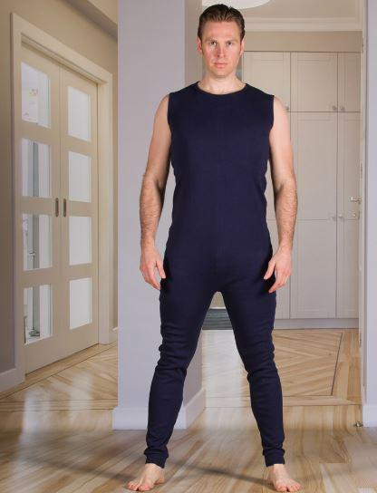 Bodysuits - Men's Bodysuit With Zippered-Back And Long Legs (from Xsmall - Xlarge)