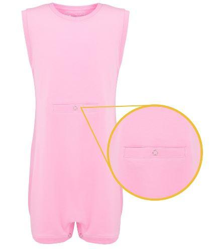 Bodysuits - Super Soft Bodysuit - Sleeveless With Tube Access - Pink/White/Blue/Grey