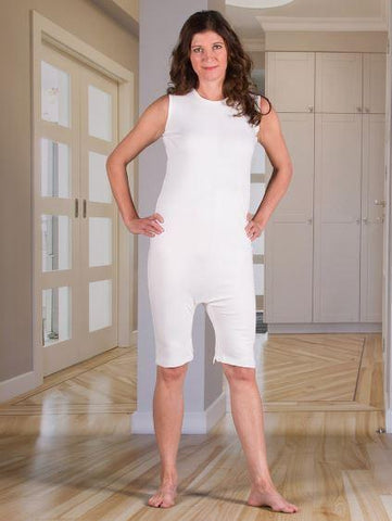 Bodysuits - Women's Bodysuit With Short Legs And A Zippered-Back And Crotch (from Small - Xlarge)