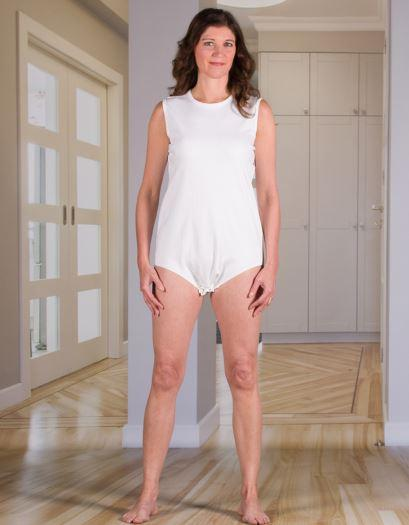 Bodysuits - Women's Bodysuit With Snap-Fastening Crotch (Onesie) (from Xsmall To Xlarge)