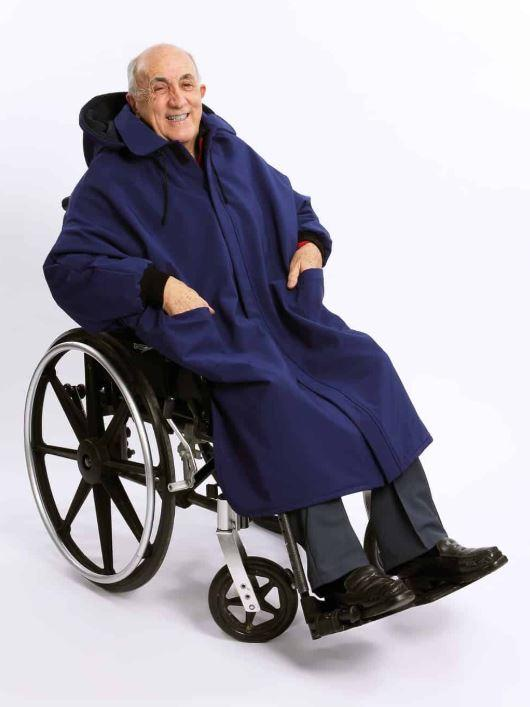 Cape - Men's Winter Cape For Wheelchair With Full Opening At The Front (size: Small To XLarge)