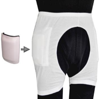Hip Protectors - Men's Hip Protector Access Pants (Large Cut-out Sections In The Pants To Allow Access For An Incontinence Pad)