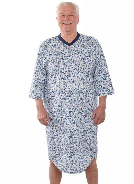 Hospital Gown - Men's Poly-Cotton Hospital Gowns (size: From Small To 4XLarge)