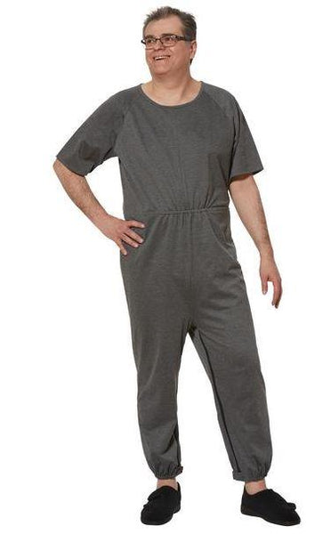 Jumpsuits - Men's Anti-Strip Jumpsuit  - Grey (size: From Small To XLarge)