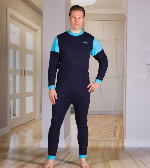 Jumpsuits - Men's Jumpsuit With A Zipper-Back, Long Legs, Footless, And Long Sleeves (from Xsmall To Xlarge)