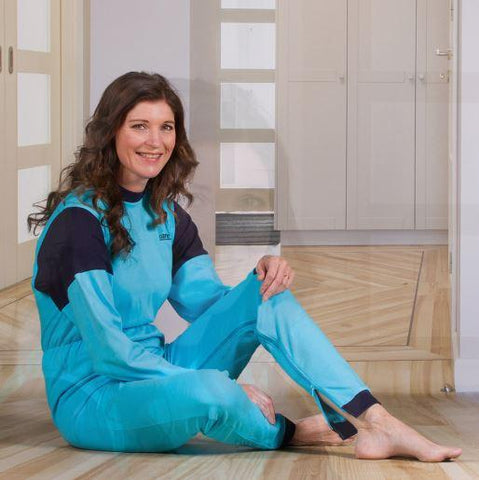 Jumpsuits - Women's Jumpsuit With A Zipper-Back And Crotch, Long Legs, And Long Sleeves (fom Small To Xlarge)