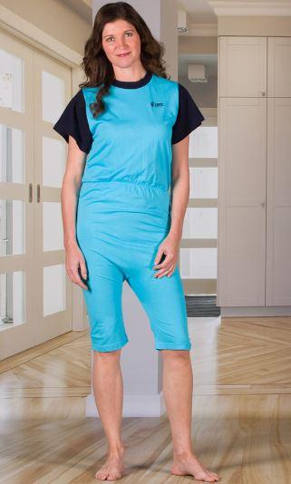 Jumpsuits - Women's Jumpsuit With A Zipper-Back, Short Legs, And Short Sleeves (from Small To Xlarge)