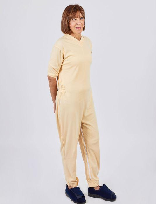 Jumpsuits - Women's Long Knit Jumpsuit - Can Be Worn Under Clothing Or As Pajamas (size: From XSmall To 3XLarge)