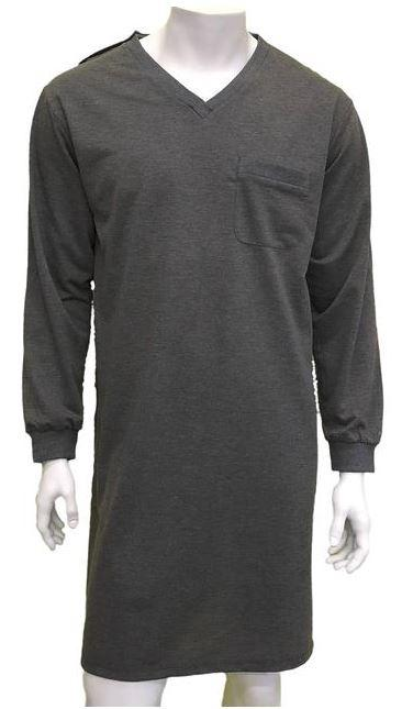 Nighshirt - Men's Night Shirt Billy - Charcoal (size: From Medium To 2XLarge)