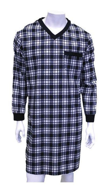 Nighshirt - Men's Night Shirt Stewart - Black Watch (size: From Medium To 2XLarge)