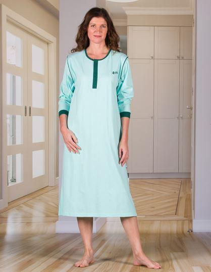 Nighshirt - Women's Nightshirt With An Extra Fold In The Back (from Small To Xlarge)