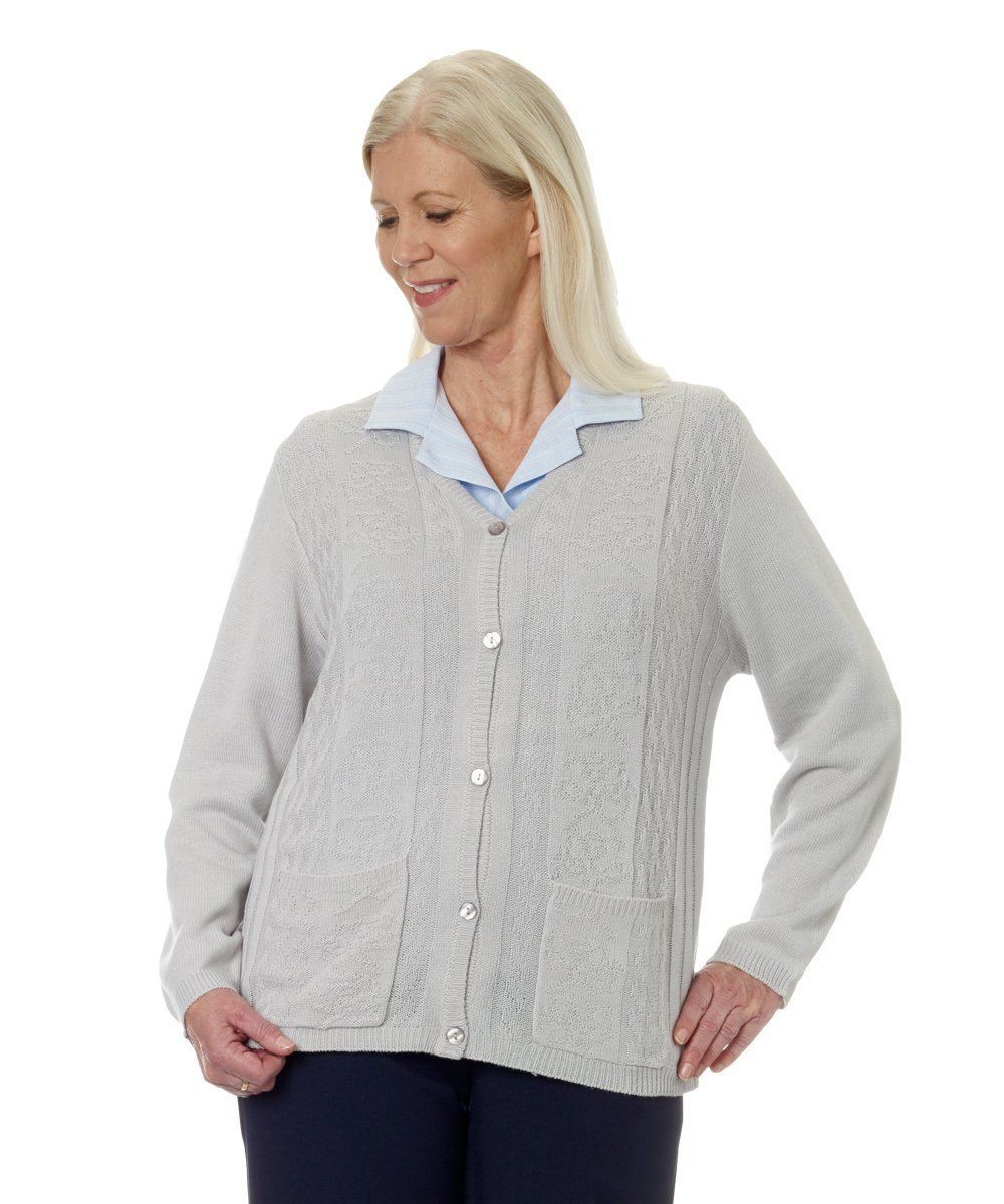Outerwear - Plus Size: Adaptive Open Back Light Weight Cardigan Sweater With Pockets - Size: 3XL
