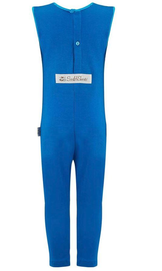 Pajama's - Kids - Scratch Sleeves Button Back Ankle Length Dungarees - Sensory Disorder