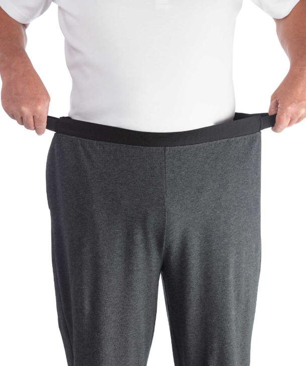 Pants - Men's Arthritis Easy Grip Wide Leg Pull On Pants (size: From Small To XLarge)