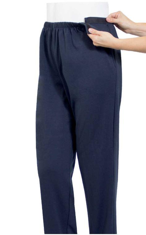 Pants - Men's Easy Access Open Side Pants - Arthritis Easy Access Clothing (size: From Small To 4XLarge)