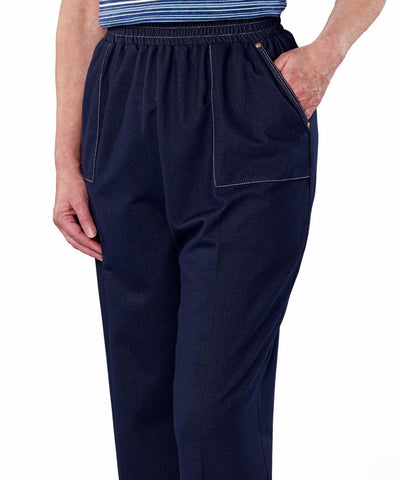Pants - Plus Size: Casual Soft Stretch Adaptive Wheelchair Jean Pants For Women - Disabled Adult Clothing.  From 2XL To 3XL