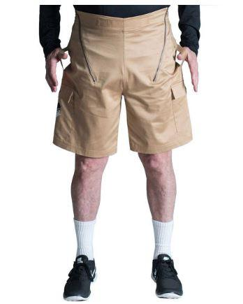 Pants - Ultimate Transfer Solution - Transfer Wheelchair Cargo Shorts For Men - Cotton Twill
